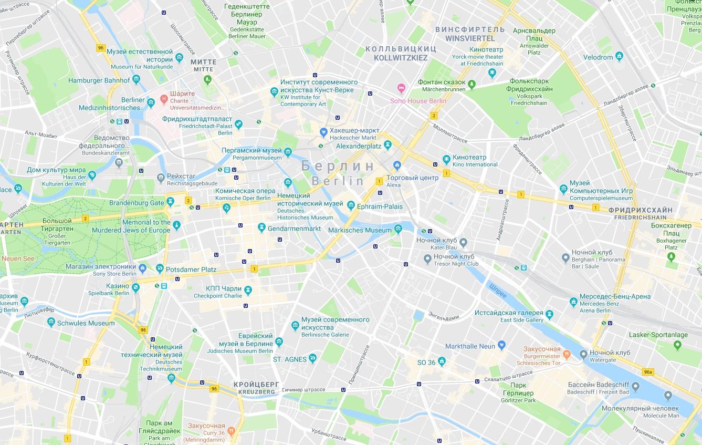Карта берлина картинка